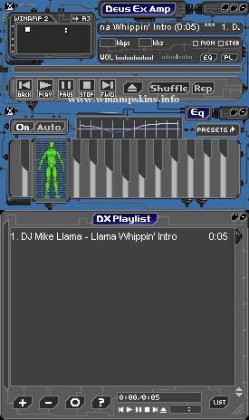 Deus Ex Amp v1 0 1 download winamp skins